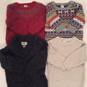 Four baby sweaters 6-12 and 18-24 months